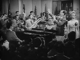 "Benny Goodman Orchestra with Peggy Lee in 1943 movie ""Stage Door Canteen"""